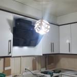 کابینت آشپزخانه کوچک های گلاس