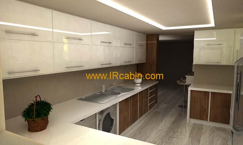 طراحی کابینت آشپزخانه سه بعدی 3DMAX